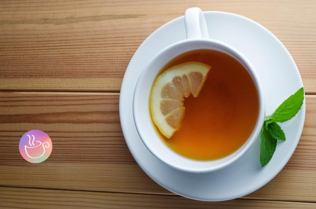 saucer-cup-mint-tea-drink-lemon